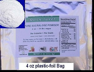 Quick Sweet Pure Sucralose  Powder (0-Cal. Sweetener) 4 oz