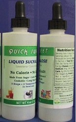 Quick Sweet Liquid Sucralose (0-Cal. Sweetener)  4 oz x 2 bottles (save shipping)